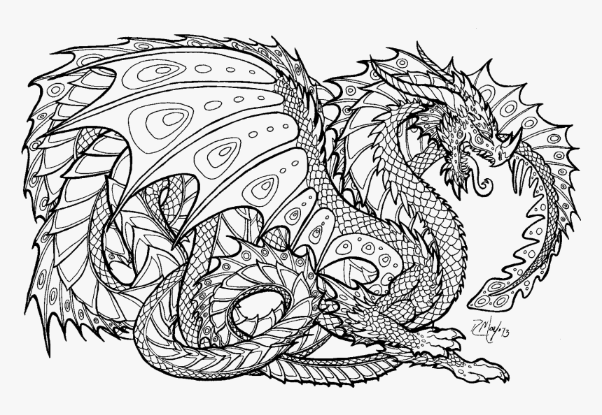 realistic dragon coloring pages for adults coloring free