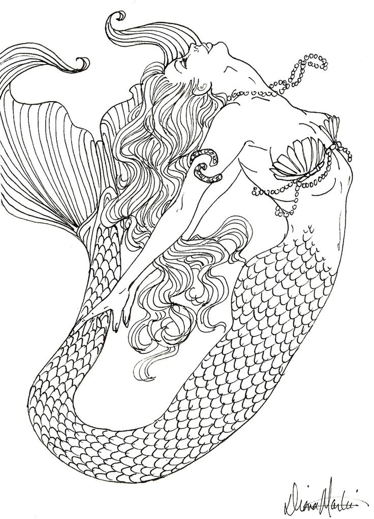 realistic mermaid coloring pages coloring pages coloring