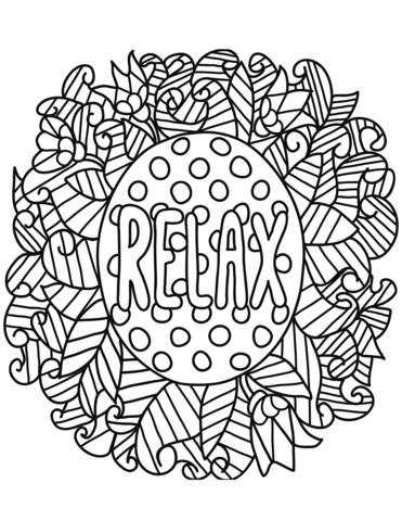 relax coloring page free printable coloring pages