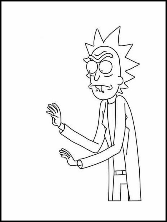 rick and morty coloring pages 1