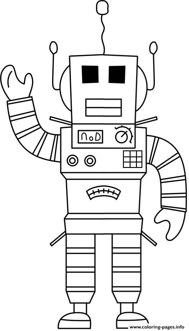roblox robot coloring pages printable
