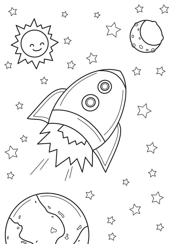 Rocket Coloring Pages Idea - Whitesbelfast
