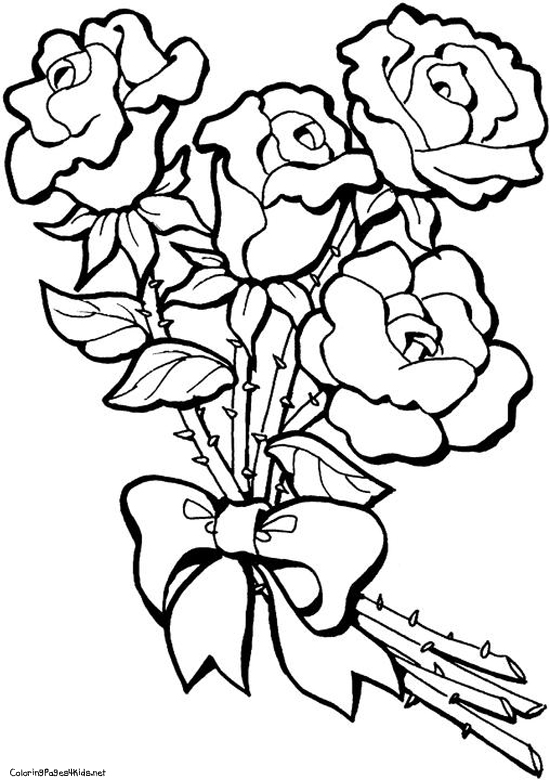 roses 7 nature printable coloring pages