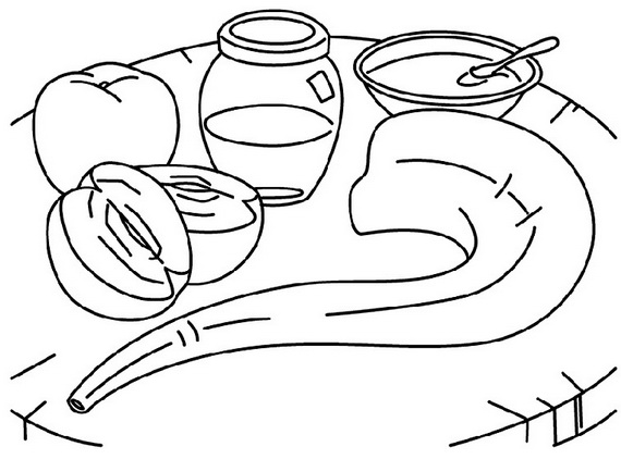 rosh hashanah coloring pages free printable template for