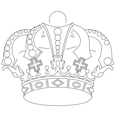 royal crown coloring page free printable coloring pages