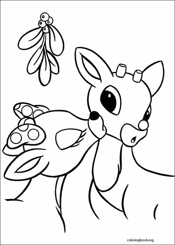 rudolph the red nosed reindeer coloring page 006