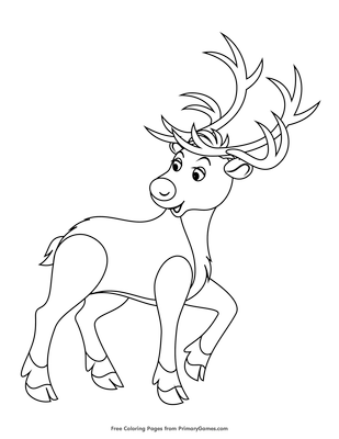 rudolph the red nosed reindeer coloring page free