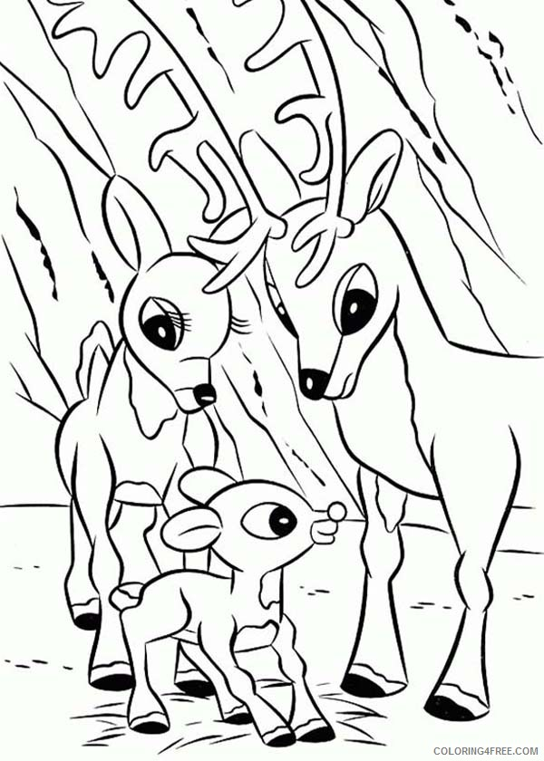 rudolph the red nosed reindeer coloring pages with mom and