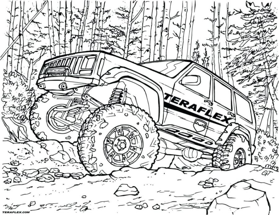 safari jeep coloring page at getdrawings free for