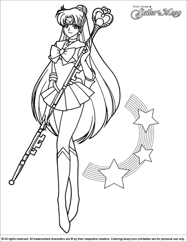 sailor moon free printable coloring page coloring library