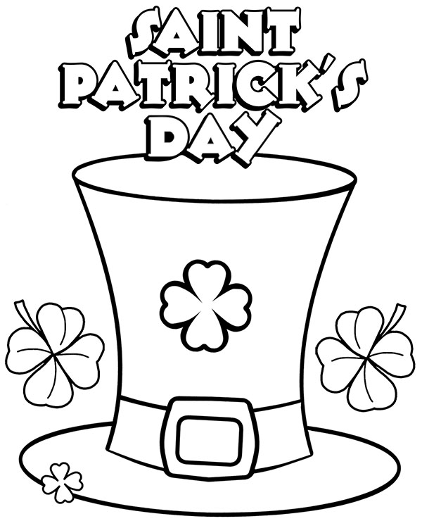 saint patricks day coloring page sheet for children