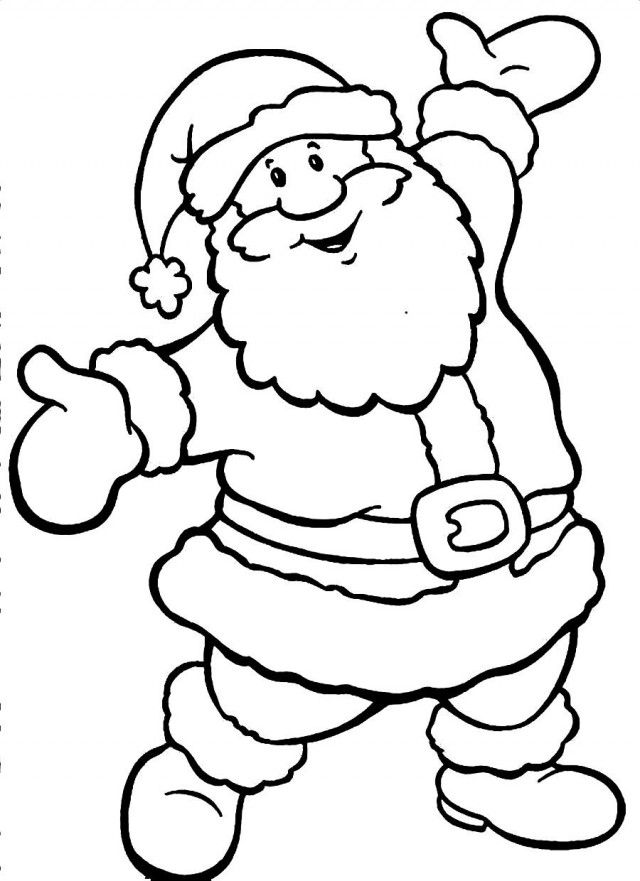 santa claus christmas coloring page santa clause coloring