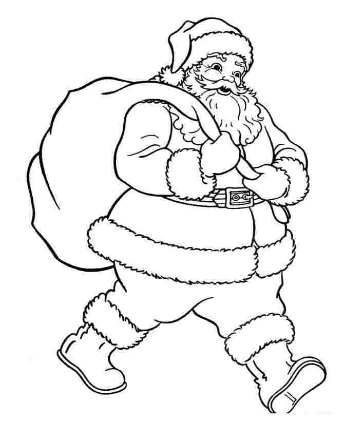 santa coloring sheets free free christmas colouring pages