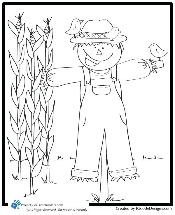 scarecrow coloring page siirthaber