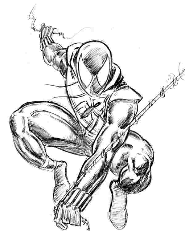 scarlet spiderman coloring pages miles morales free coloring