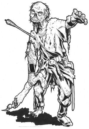 scary coloring pages for adults advanced zombie image 1