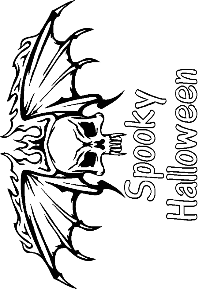 scary halloween coloring page creative ads and more