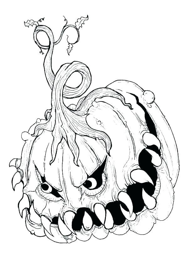 scary pumpkin coloring pagescary pumpkin coloring page