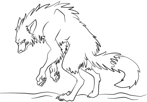 scary werewolf coloring page free printable coloring pages