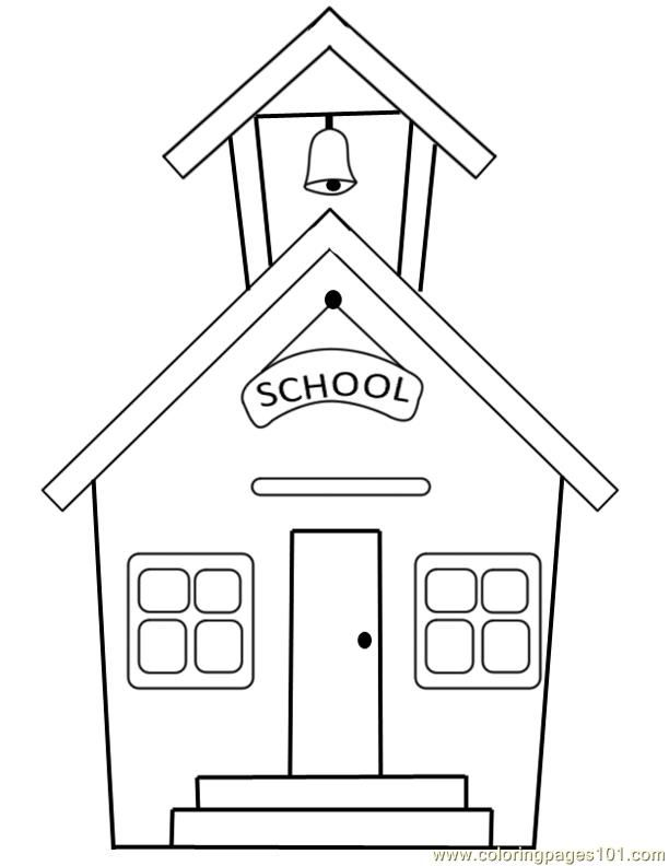 school building school coloring pages coloring pages for