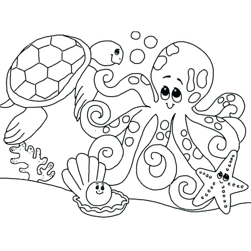 sea animals coloring page interesantecosmetice