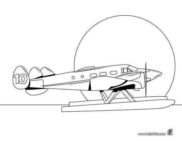 sea plane coloring pages hellokids