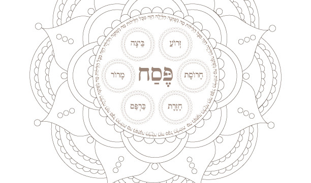 seder plate mandala passover coloring page 1 printable