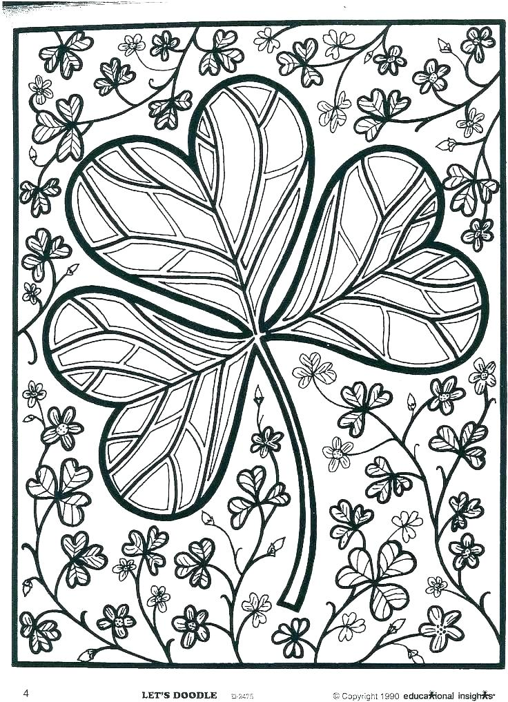 shamrock coloring pictures to print hottestnews