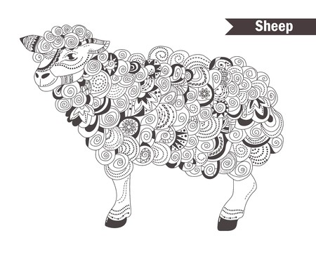 sheep coloring book for adult antistress coloring pages
