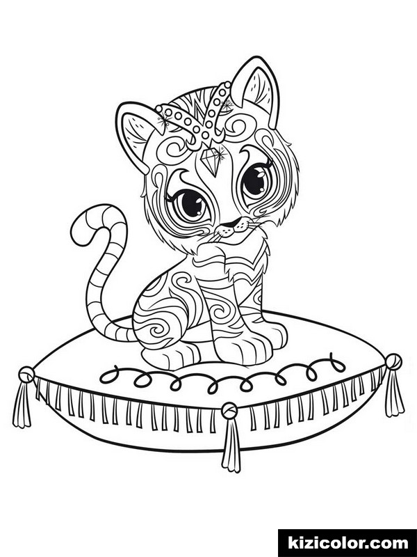 Shimmer And Shine Coloring Pages Idea Whitesbelfast Com