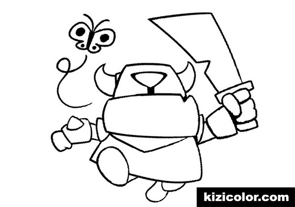 simple clash royale kizi free coloring pages for