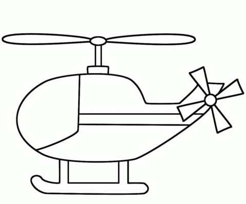 simple helicopter coloring page free printable coloring pages