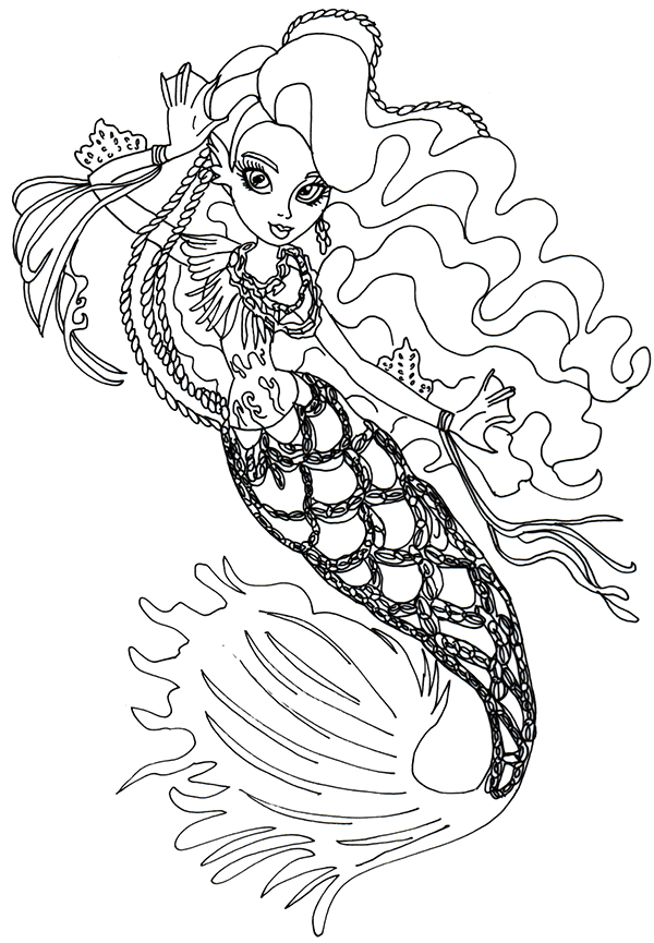 sirena von boo monster high coloring page monster high