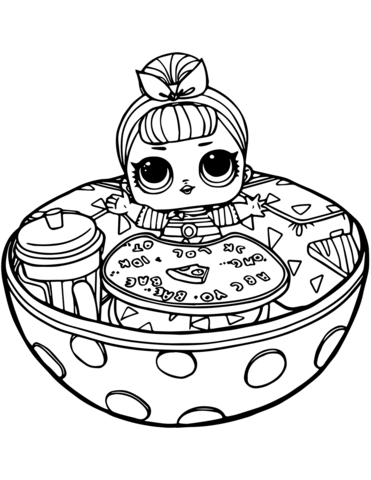 sis swing lol surprise doll coloring page free printable