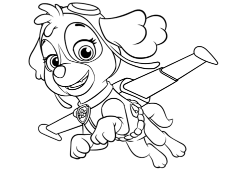 skye flying kifest free printable coloring pages