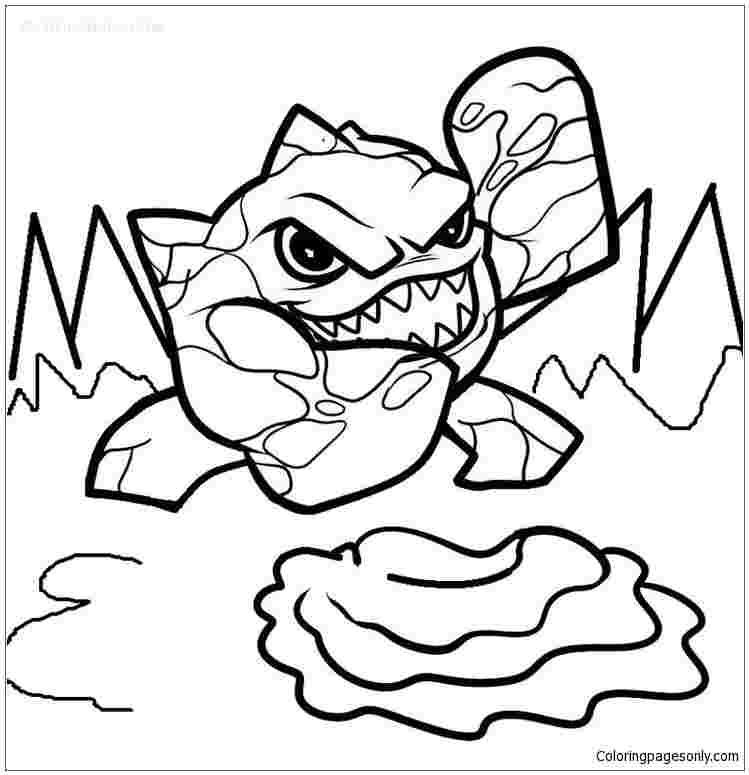 skylanders ninjini coloring pages pomorski