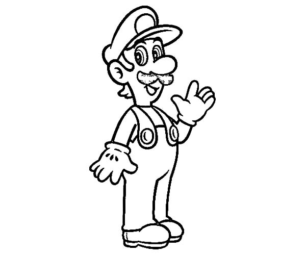 smiling luigi coloring pages download print online