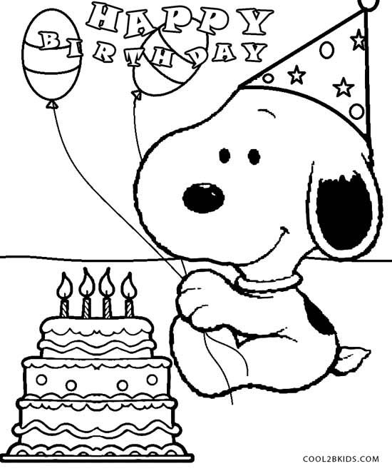 snoopy birthday coloring pages peanuts snoopy geburtstag