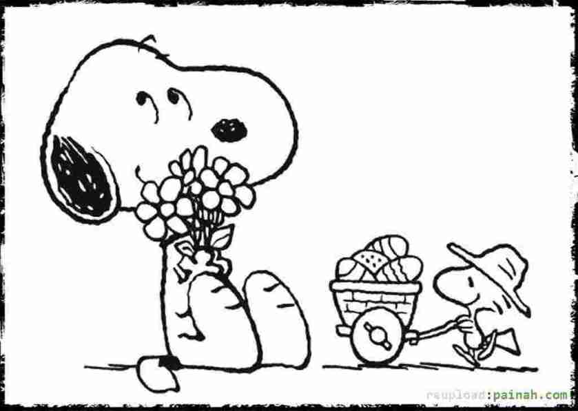 snoopy easter coloring pages snoopy coloring pages