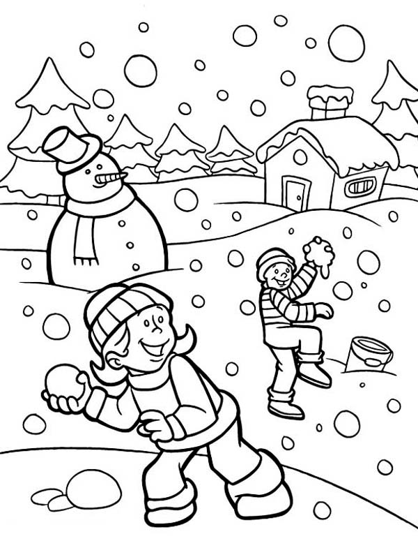 snow day coloring page at getdrawings free for