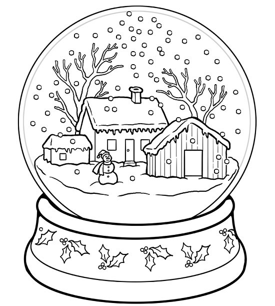 snow pictures to color printable winter coloring pages