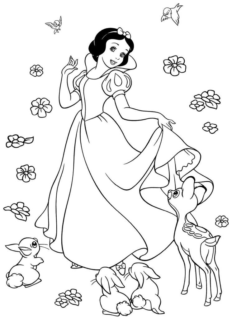snow white coloring pages disney prinzessin schneewittchen