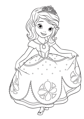 sofia the first coloring pages free coloring pages