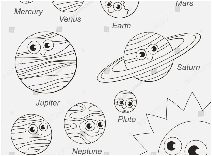 solar system coloring pages photo stunning cute solar system