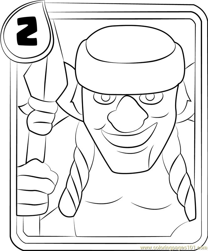 spear goblins coloring page free clash royale coloring