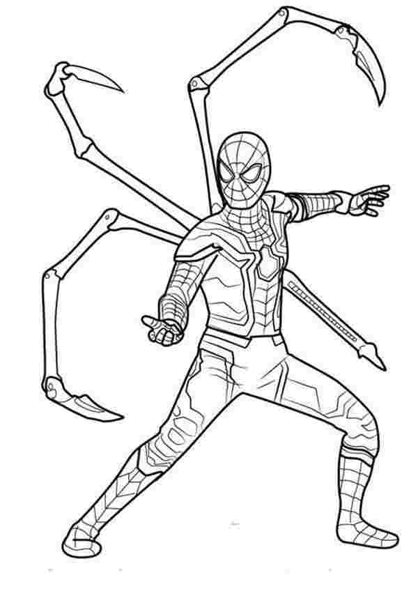 spider man infinity coloring pages artstation infinity war
