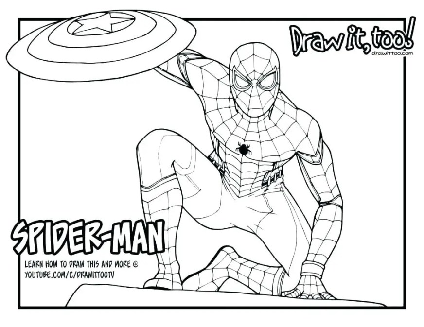spiderman coloring page pages pdf sekreticlub