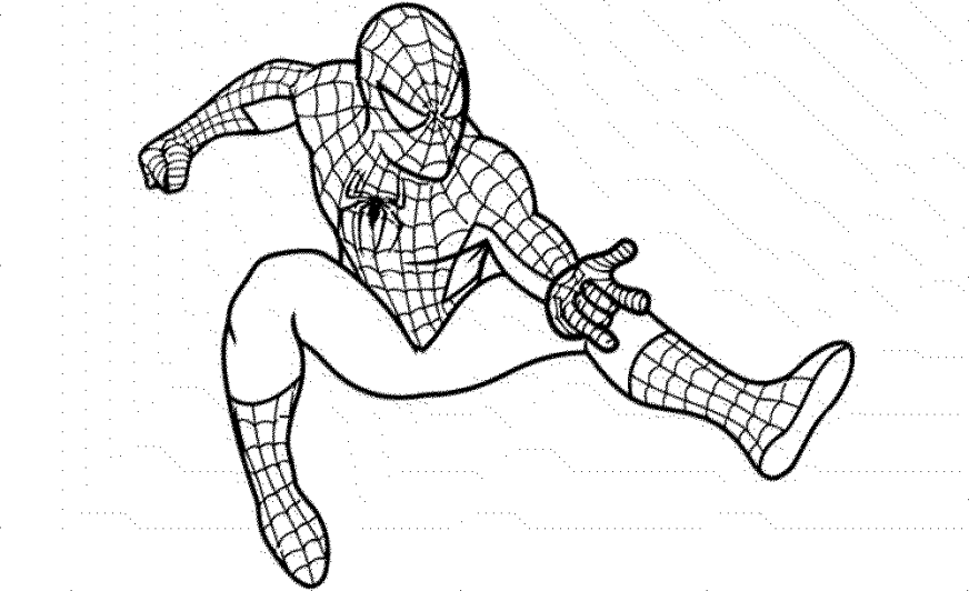 spiderman coloring pages paint printable kids colouring