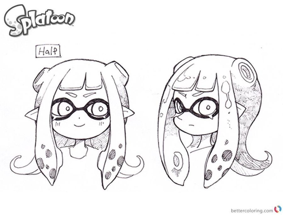 splatoon coloring pages splatoon 2 drawing free coloring