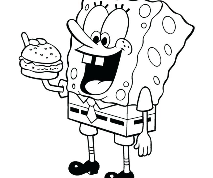 spongebob squarepants coloring page pages hellokids color